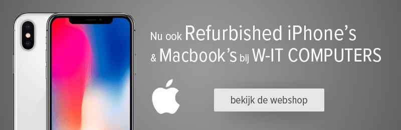 Nu ook Refurbished iPhones bij W-IT COmputers